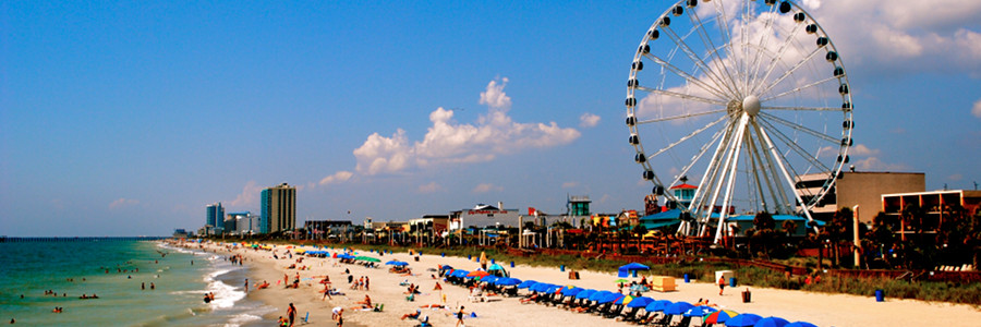 Myrtle Beach South Carolina Over 60 Miles Of Warm Sandy Beaches Make A Top Notch Vacation Destination In The United States